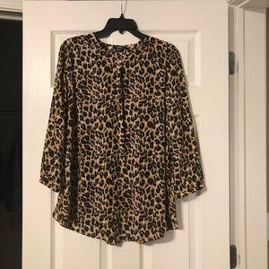 Women's cheetah blouse!